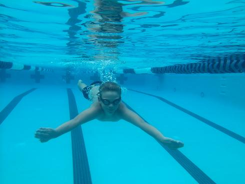 Aiden Beck, a 10-year-old swimmer for the Sedona Swordfish, trains at the Sedona Community Pool for the fall swimming season. Beck, who has only been swimming with the club team for six months, won seven events at the Sedona Splash and swam 66 laps in 23 1/2 minutes at the Sedona Mile.